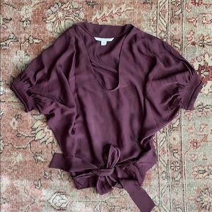 Diane von Furstenberg silk tie blouse